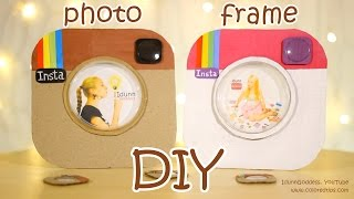 getlinkyoutube.com-DIY Instagram Photo Frame Out Of a Pizza Box and Pringles Cap - DIY Room Decor Idea