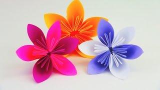 getlinkyoutube.com-Blume Falten Origami DIY / Schöne Blumen für den Frühling / Ostern Anleitung | deutsch