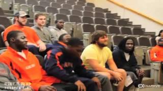 getlinkyoutube.com-Cam Newton Storms out of Coach Duval Practice Speech