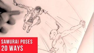 getlinkyoutube.com-20 Ways Drawing Samurai Poses