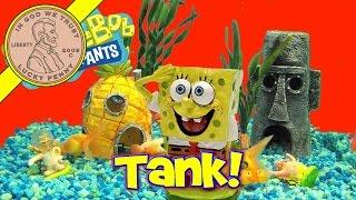 getlinkyoutube.com-Spongebob's Bikini Bottom Electronic Underwater World Fish Tank!