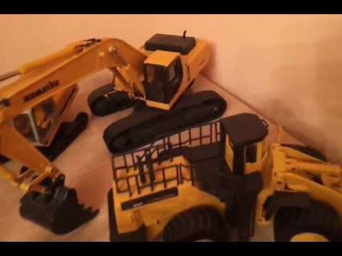 Coleccion de maquetas de maquinaria de obras escala:1/50