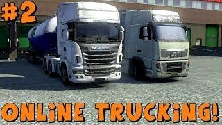 getlinkyoutube.com-Euro Truck Simulator 2 | Multiplayer Mod Feat. Gunner4568 | Hauling Cement! Part 2