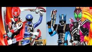 getlinkyoutube.com-gokai red vs decade /gokai blue vs diend (heisei kamen rider vs kaizoku sentai gokaigers) toku mix