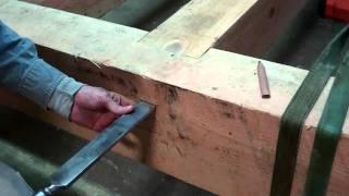 getlinkyoutube.com-Off-Grid Timber Frame Cabin Finishing The Floor