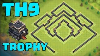 getlinkyoutube.com-Clash of Clans - TH9 EPiC TROPHY BASE TITAN/LEGEND League *NEW UPDATE!!* | COC Winner Defense Layout