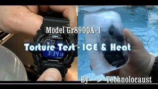 getlinkyoutube.com-TORTURE TEST G-SHOCK | GR8900a-1 Tough Solar Frozen