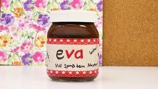 getlinkyoutube.com-Persönliches Nutella Glas als Geschenk gestalten | Süße Geschenk Idee für die beste Freundin