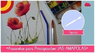 getlinkyoutube.com-Curso de Acuarela para Principiantes: como pintar amapolas (utilizando una pajilla)