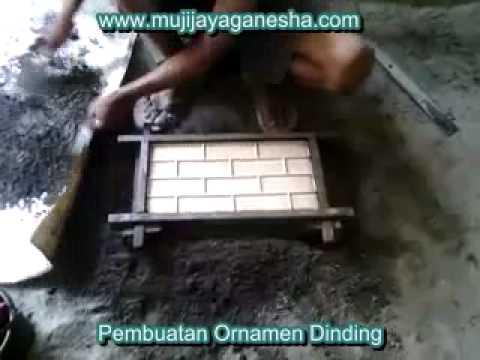 Cara Membuat Loster Roster Semen Ornamen Dinding