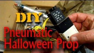 getlinkyoutube.com-Homemade Pneumatic Halloween Prop - Part #1