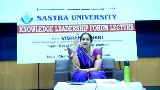 getlinkyoutube.com-Vishaka Hari Talk on Great Men on Great Women at SASTRA - Part I