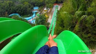 getlinkyoutube.com-Drop Out extreme Body water Slide POV - Free Fall water slide - Raging Waters 2015
