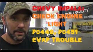 getlinkyoutube.com-Chevy Impala: Check Engine Light Codes: P0446, P0451 EVAP Trouble