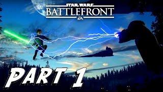 getlinkyoutube.com-Star Wars: Battlefront - Gameplay - Part 1 - LUKE SKYWALKER VS DARTH SIDIOUS - (XboxOne) [HD]