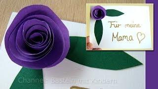 getlinkyoutube.com-Muttertag basteln: Rosen aus Papier als Muttertagsgeschenk - Muttertag Ideen