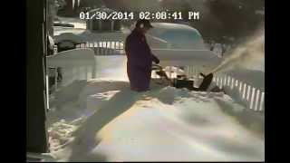 getlinkyoutube.com-Old Toro 824 snow blower takes on 2 feet of snow