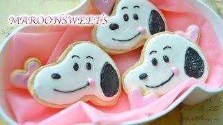 getlinkyoutube.com-デコスイーツ スヌーピークッキー 作り方 DIY Snoopy Cookies