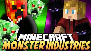getlinkyoutube.com-Minecraft MONSTER INDUSTRIES! (Spawn Mobs, Buy Weapons & More!) - w/Preston & Lachlan