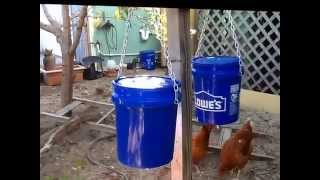 getlinkyoutube.com-The best DIY chicken feeder - keep feed dry and safe from rodents and birds