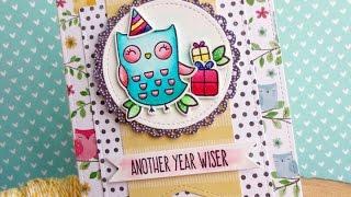Fun Watercolor Owl Birthday | Zig Clean Color | MFT