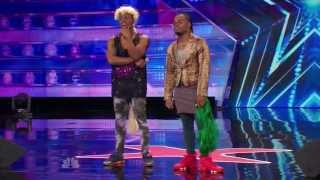 getlinkyoutube.com-America's Got Talent S09E06 Emmanuel and Phillip Hudson Evidence Howie is the WORST Judge