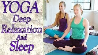 getlinkyoutube.com-Beginners Yoga For Deep Relaxation, Sleep, Insomnia, Anxiety & Stress Relief
