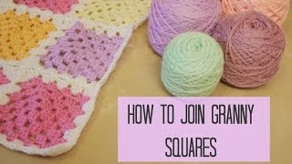 getlinkyoutube.com-CROCHET: How to join granny squares for beginners | Bella Coco