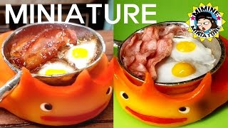 getlinkyoutube.com-미니어쳐 하울의 움직이는 성 요리! (베이컨& 계란후라이) Miniature Cookig - Howl's Moving Castle (Bacon & Eggs) /미미네미니어쳐