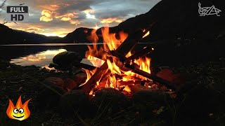 getlinkyoutube.com-Lakeside Campfire with Relaxing Nature Night Sounds (HD)
