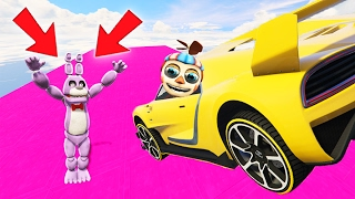 BONNIE IS KILLED BY BALLOON BOY'S SUPERCAR! (GTA 5 Mods FNAF For Kids Funny Moments)