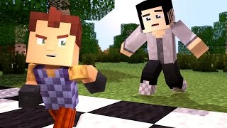 Minecraft Hello Neighbor - RACE AGAINST THE NEIGHBOR! | Minecraft Roleplay