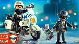 getlinkyoutube.com-Playmobil Police Polizei  (5891) unboxing City Action Policeman and thief toy