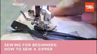 getlinkyoutube.com-Learn to Sew: How to Make a Zipper Closure