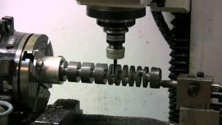 getlinkyoutube.com-Boxer 6 cylinder model engine crankshaft machined on Golmatic CNC mill - HD video