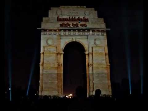 The Making Of 3D Mapping on India Gate for clean India campaign by Midas