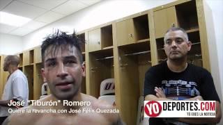 Jose  Tiburón  Romero le pide la revancha a José Félix Quezada
