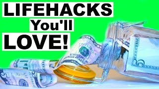 getlinkyoutube.com-LIFEHACKS You'll Love! Saving Money, Falling Asleep, & More!