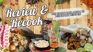 REVIEW AND RECOOK MIE KOCOK RASA LOKAL!!!!