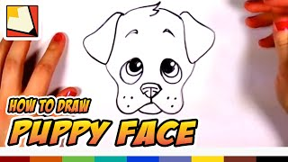 getlinkyoutube.com-How to Draw a Cute Puppy Face Step by Step - Art for kids | CC