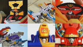 getlinkyoutube.com-All DX Gattai Samurai Sentai Shinkenger 2009! DX 侍戦隊シンケンジャー! Power Rangers Samurai Megazord!