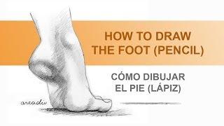getlinkyoutube.com-How to draw a foot /Como dibujar un pie.