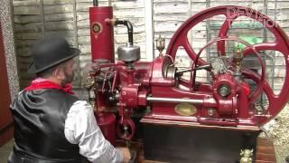 getlinkyoutube.com-Ruston Hornsby Gas (oil) Engine startup