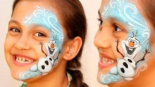 "getlinkyoutube.com-""Frozen"" Olaf ⛄ the Snowman — Makeup & Face Painting Tutorial — Christmas Design"