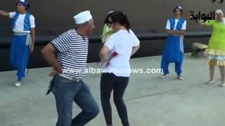 """getlinkyoutube.com-وصلة رقص بلدي ساخنة لسائحة تشعل ميناء """"بورسعيد"""""""