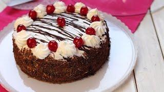 getlinkyoutube.com-Recette de forêt noire / black forest cake / كعكة الغابة السوداء