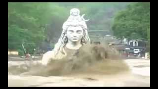 getlinkyoutube.com-Statue of Lord Shiva in Rishikesh, Ganga River Heavy Flood in Uttarakhand... jagadeepkumar.