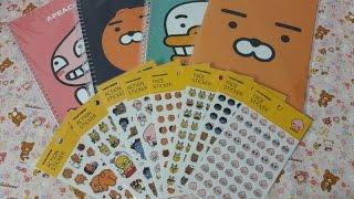 getlinkyoutube.com-NO.77 ★카카오 프렌즈 노트 & 스티커 소개 (KAKAO FRIENDS Notebook & Sticker)★