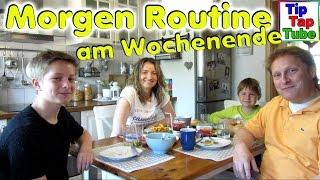 Morgen Routine am Wochenende Brötchen kaufen und frühstücken TipTapTube Kinderkanal