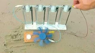 getlinkyoutube.com-Magnesium graphite and sea water, battery